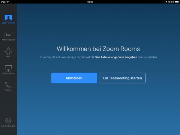 Virtueller Zoom Meetingraum Zusammenarbeit