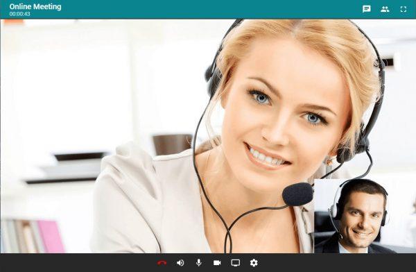 WebRTC Videokonferenz Client